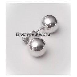 Boucles D'oreilles - Grosses Boules- 12MM- Argent Massif 925/1000 -Bijoux Femme