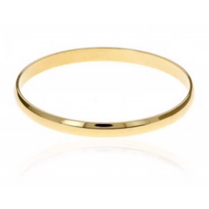 Joli Bracelet Jonc Épais Plaqué Or 18 Carats garanti 10 ans 3 Microns Bijoux