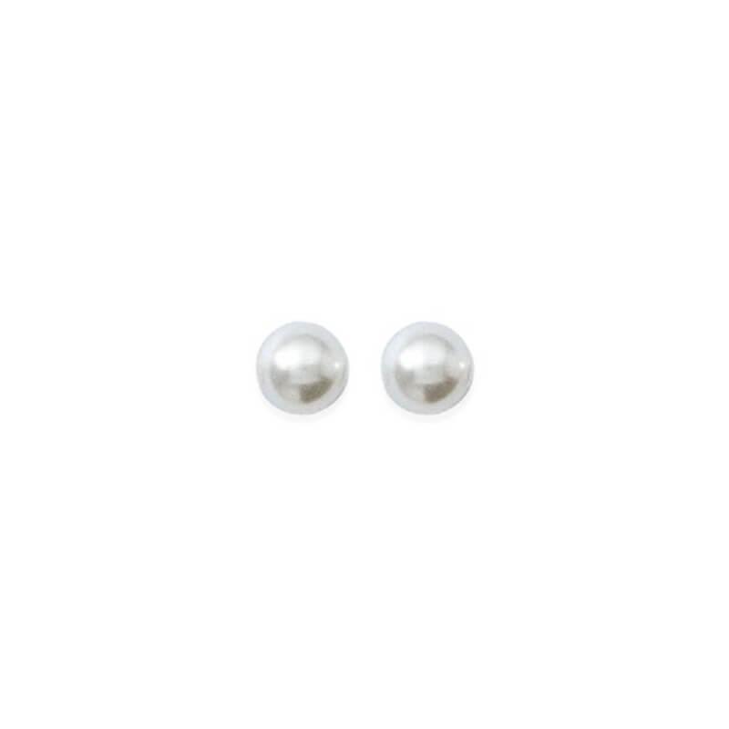 Boucles D'oreilles Perle Majorque 4MM Plaqué Or 18 carats Garanti 10 Ans Bijoux
