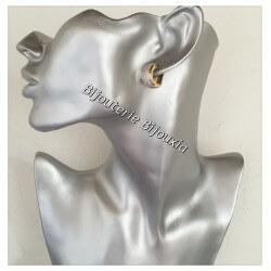 Boucles D'oreilles Créoles Microserti ZIRCONIUM Plaqué Or 18Carats Garanti 10ANS