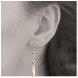 Boucles D'oreilles pendantes Plaqué Or 18 Carats Garanti 10 ans Bijoux Femme