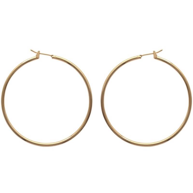 Boucles D'oreilles Grandes Créoles 6cm Plaqué Or 18CARATS Garanti 10 ans Bijoux