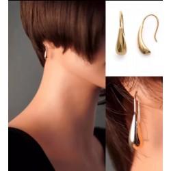 Boucles D'oreilles Goutte D'eau  Plaqué Or 18Carats  3 Microns  Bijoux Femme