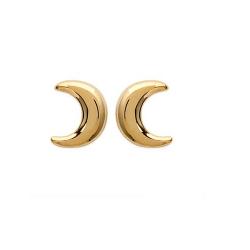 Boucles D'oreilles Croissant  de LUNE Plaqué or 18 CARATS 750 Millièmes Bijoux