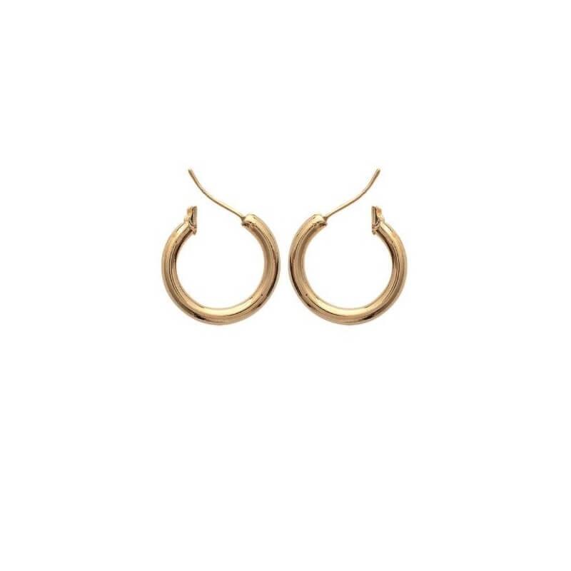 Boucles D'oreilles Créoles 2cm Plaqué Or 18 Carats Garanti 10 ans Bijoux Femme