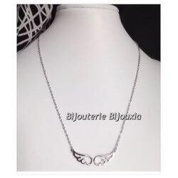Collier pendentif Ailes D'Anges - Acier Inoxydable 316L - Bijoux Femme - NEUF