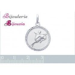 Pendentif Médaille Signe Zodiaque Sagittaire Argent Massif 925/1000 Bijoux NEUF