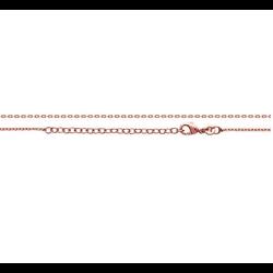 Collier chaîne + pendentif Céramique & Plaqué Or Rose 18CARATS ZIRCONIUM Bijoux