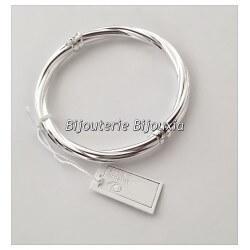 Bracelet Jonc torsadé Ouvrable 6,2 CM Argent Massif 925/1000 Bijoux Femme