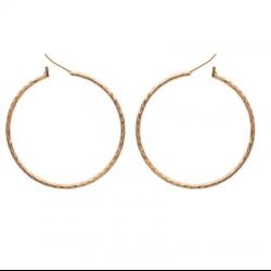 Boucles d'oreilles Créoles 5 cm Torsadées Plaqué Or 18 CARATS Bijoux Femme