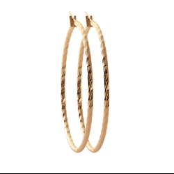 Boucles d'oreilles Créoles 6 cm Torsadées Plaqué Or 18 CARATS Bijoux Femme