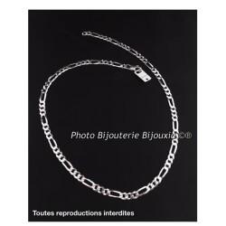 Chaîne Maille Figaro  7 MM X 60 CM - Argent Massif 925/1000 Bijoux Homme