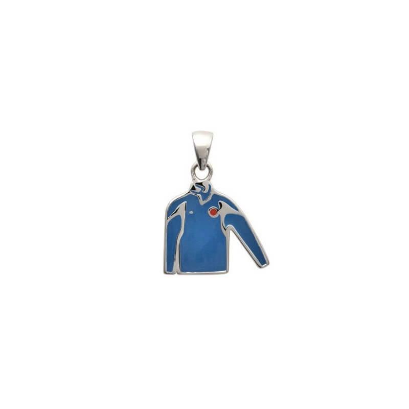 Pendentif Maillot de foot - émail de couleur Argent Massif 925/000 Bijoux Enfant