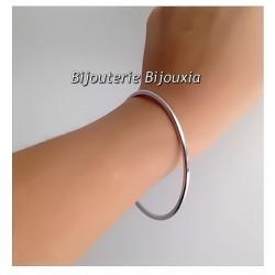 Bracelet Jonc Épais - 6,2 cm - Argent Massif 925/000 - Poinçon - Bijoux Femme