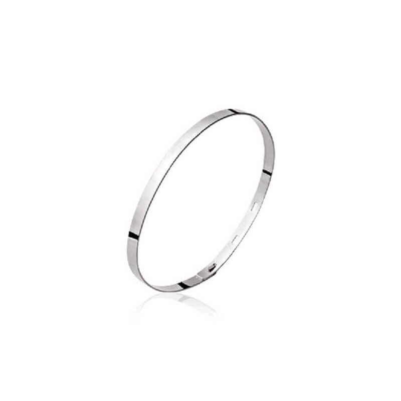 Bracelet Jonc flexible ouvrable  Argent Massif 925/000 Rhodié  Bijoux Femme