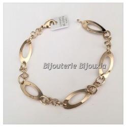 Bracelet Maillons Ovales Plaqué Or 18 carats Garanti  NEUF  Bijoux Femme