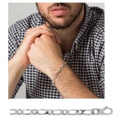 Bracelet Maille Figaro 5MM Argent Massif 925/1000 Poinçonné  Bijoux Homme