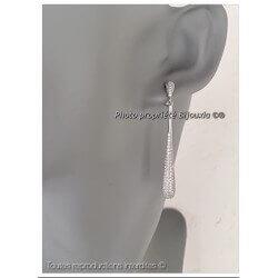 Boucles D'oreilles Gouttes d'eau Microserti Argent Massif 925°°°Bijoux Femme