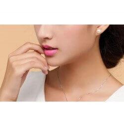 Boucles D'oreilles Véritables Perles D'eau Douce Naturelle Argent Bijoux Femme