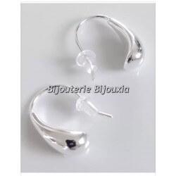 Boucles D'oreilles Gouttes D'eau Argent Massif 925/000 -Bijoux Femme