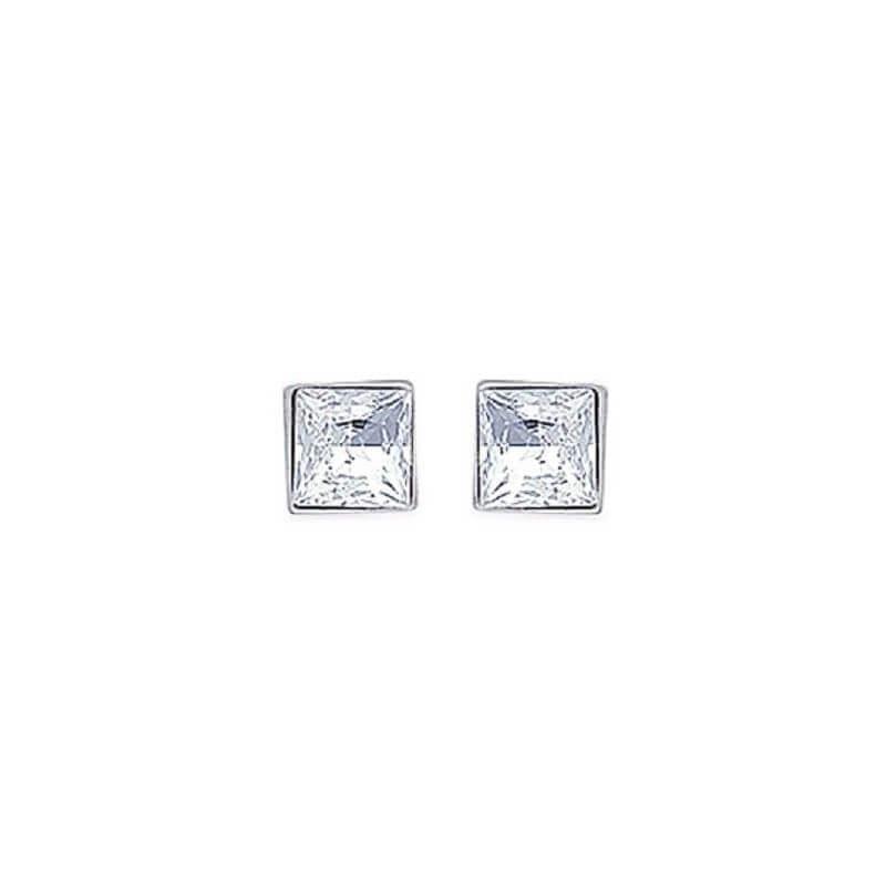Boucles D'oreilles Diamant  argent 925/000-NEUF Zirconium Bijoux Femme-