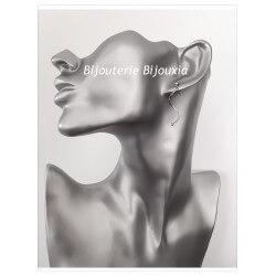Boucles D'oreilles Tige torsadée - Argent Massif 925/000 - Rhodié - Bijoux Femme