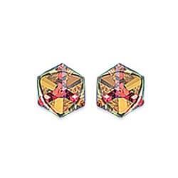 Boucles D'oreilles-Cristal Cube Zirconium Argent Massif 925/000-Bijoux Femme