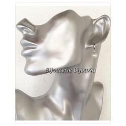Boucles D'oreilles Perle De Majorque Et Argent Massif 925/000 Neuf Bijoux Femme