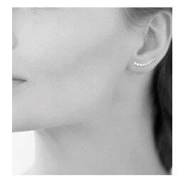 Boucles D'oreilles Lobes Série 9 cristaux ZIRCONIUM Argent 925 Rhodié Bijoux