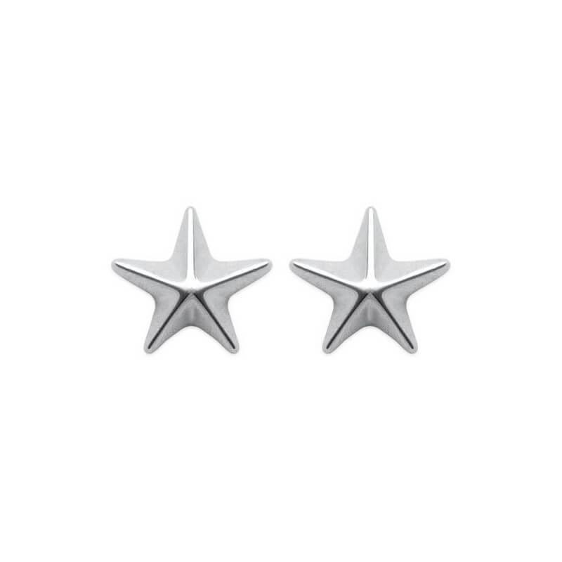 Boucles D'oreilles puces étoiles  Argent Massif 925 Millièmes Rhodié Bijoux