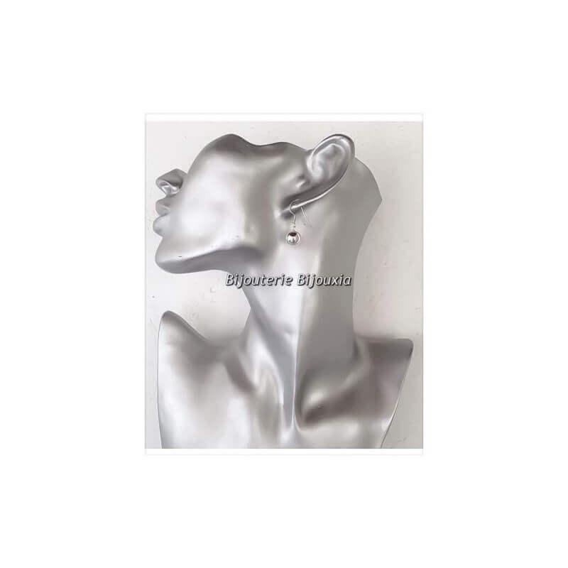 Boucles D'oreilles- Boules 8mm Pendantes - En Argent Massif 925/000-bijoux Femme