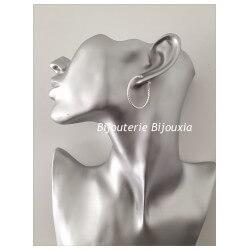 Boucles D'oreilles Créoles Torsadées- En Argent Massif 925/1000 -Bijoux Femme