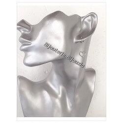 Boucles D'oreilles Coeur Acier Inoxydable 316L Bijoux femme