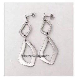 Boucles d'oreilles pendantes  Longues 6CM  Acier Inoxydable 316L Bijoux Femme