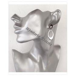 Boucles D'oreilles Pendantes- Acier Inoxydable 316L- Bijoux Femme