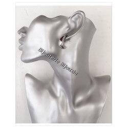 Boucles D'oreilles Créoles Croissant de Lune Acier Inoxydable 316L- Bijoux Femme