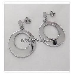 Boucles d'oreilles pendantes  Anneaux  Acier Inoxydable 316L Bijoux Femme