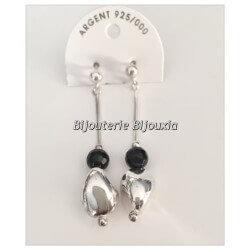 Boucles D'oreilles Chic Pendantes - En Argent Massif 925/1000 Bijoux Femme