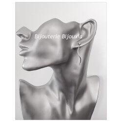 Boucles D'oreilles Tige Ondulée - Argent Massif 925/000 - Rhodié - Bijoux Femme