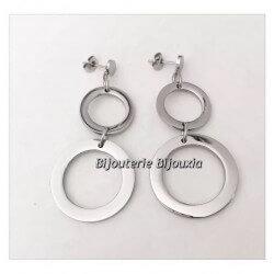 Boucles d'oreilles pendantes  Longues  Acier Inoxydable 316L Bijoux Femme