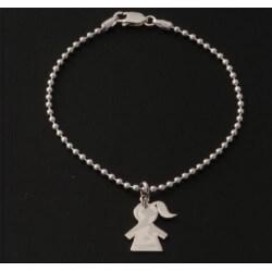 Pendentif Breloque Fille En Argent Massif 925/1000 Bijoux Neuf Avec Etiquette