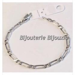 Bracelet Maille Figaro Argent Massif vieilli 925/1000 Poinçoné Bijoux Neuf