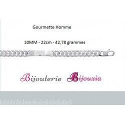Bracelet Maille Gourmette Identité Gravure Argent Massif 925/000 Tailles CHOIX