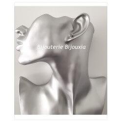 Boucles D'oreilles Cube Cristal Blanc Zirconium Argent Massif 925 Bijoux Femme