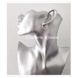 Boucles D'oreilles Créoles Rondes 2cm En Argent Massif 925/1000 Bijoux Femme