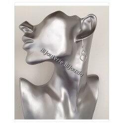 Boucles D'oreilles Dormeuses CRISTAL Zirconium Argent 925 Rhodié Bijoux Femme