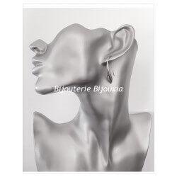 Boucles D'oreilles goutte D'eau  Argent Massif 925/1000 Bijoux Femme NEUF