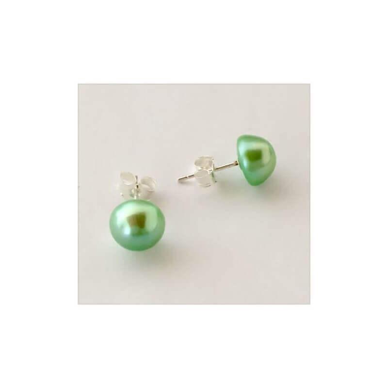 Boucles D'oreilles Véritables Perles D'eau Douce Naturelle Colorées Argent 925