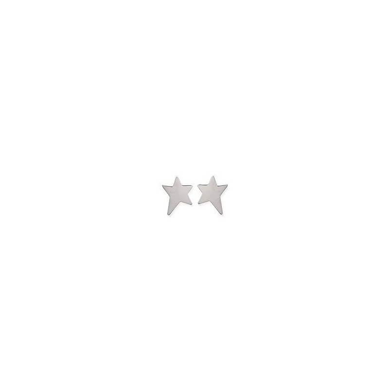 Boucles D'oreilles puces étoiles  Argent Massif 925 Millièmes Bijoux