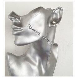 Boucles D'oreilles Perle Majorque 8MM Argent Massif 925/000 Neuf Bijoux Femme